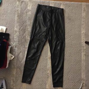 Topshop faux leather leggings